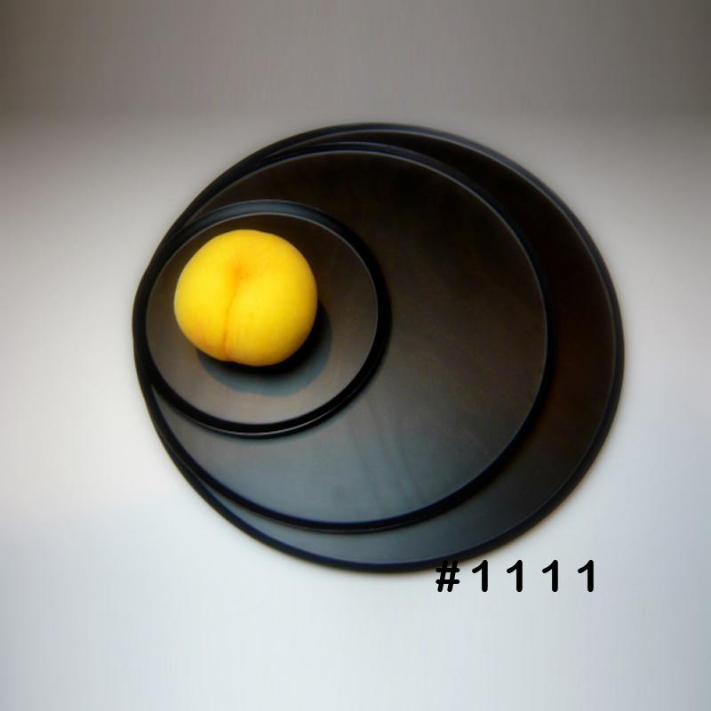 【BUNACO/ブナコ】テーブルウェア Full Moon LサイズTRAY#1111 BLACK フルムーン 【受注生産品】トレー/お盆/ランチョンマット/アパタイザー