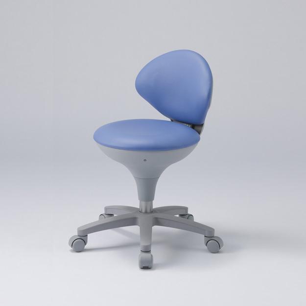 【東洋工芸】【防汚レザー張り】ナースチェア ブルー WS021-VBL /椅子/青色