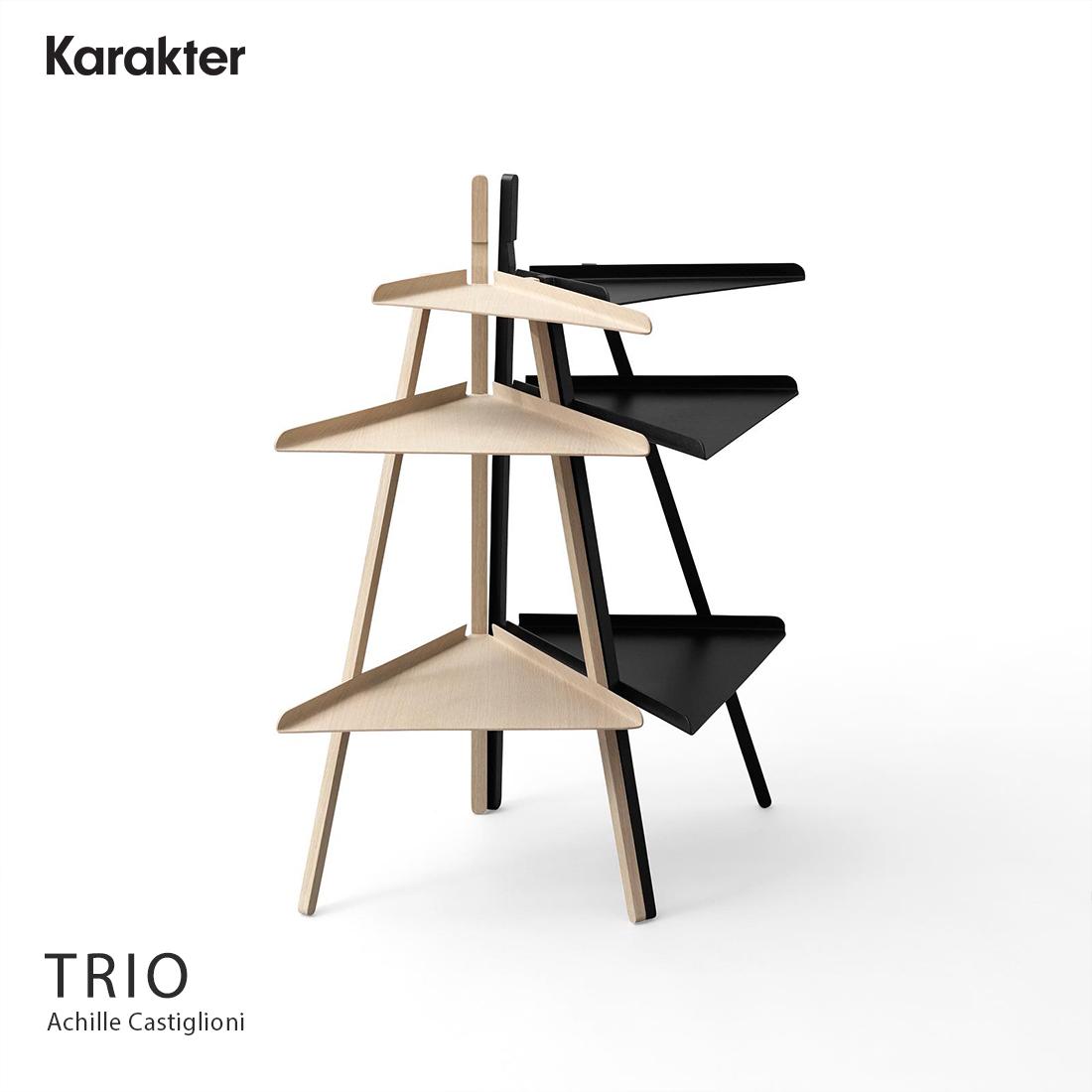 【KARAKTER カラクテー】TRIO トリオ 三角棚 三角シェルフ Achille Castiglioni カスティリオーニ