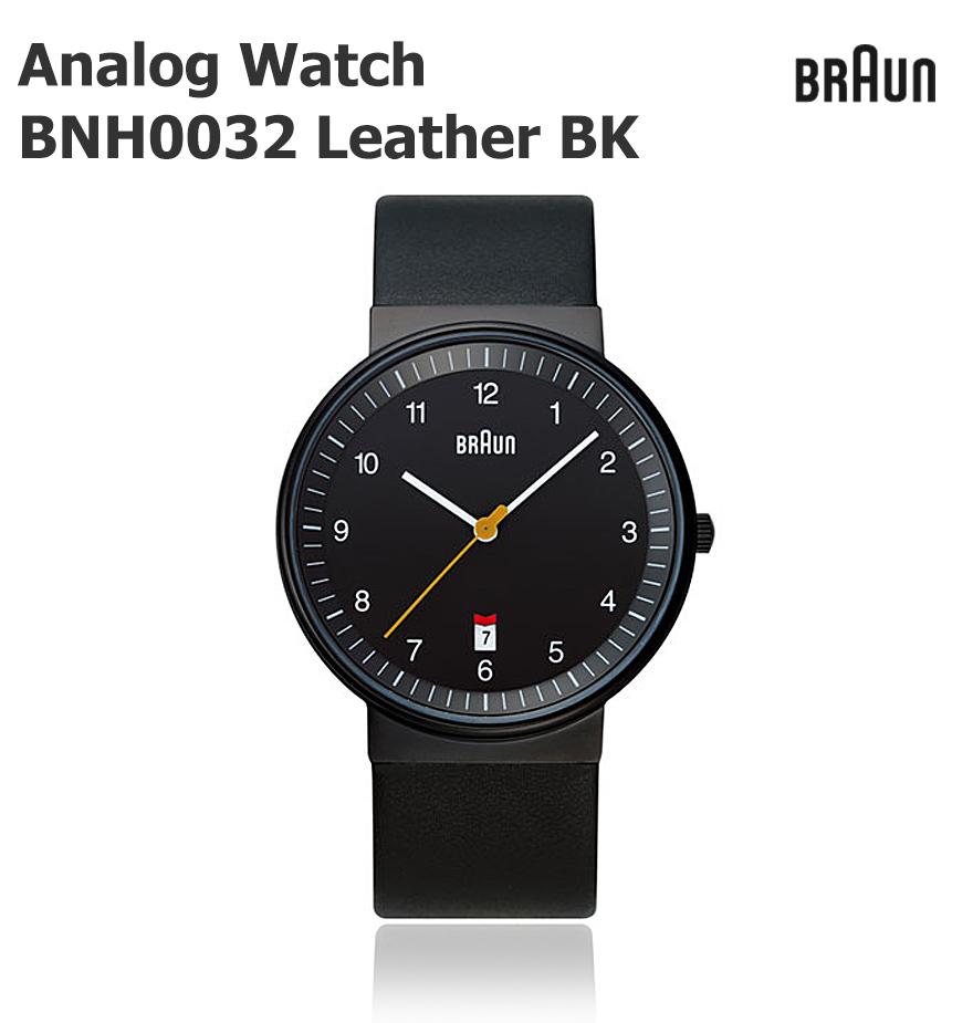 店舗クーポン発行中!【BRAUN ブラウン】BRAUN Watch BNH0032 Leather ブラック腕時計/ウォッチ/ビジネス/メンズ/北欧/デンマーク/ローゼンダール コンビニ受取対応
