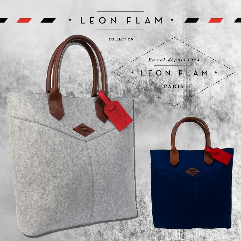 LEON FLAM レオンフラム SANTIAGO SHOPPING BAG トートバッグ/フランス【コンビニ受取対応商品】【smtb-TK】