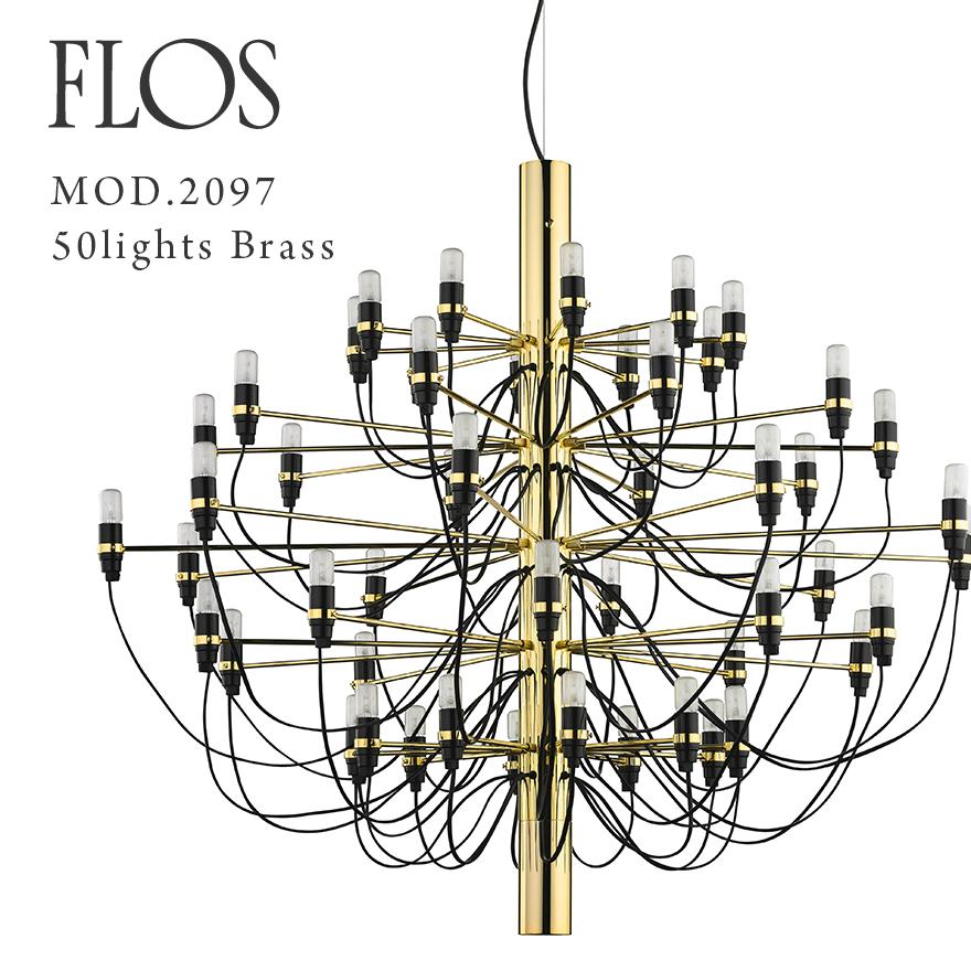 【代引き不可】FLOS MOD.2097 50lights Brass フロス ブラス真鍮 ブラス真鍮 フロス シャンデリア Brass 50灯 Gino Sarfattiジノ サルファッティ/ペンダントライト/ブラス/ゴールド, 中央町:404736ae --- sunward.msk.ru