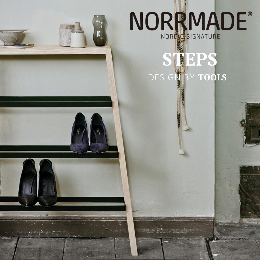 NORRMADE/ノルメイド STEPS/シューズラックステップス/Shoe rack/シューズラック/収納/靴箱/スチール/木製/デンマーク/カウヒッチ/遊牧民