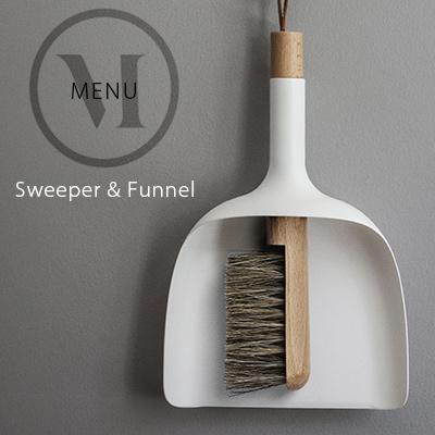 Sweeper&Funnel スウィッパー&ファンネルmenu メニュー JAN KOCHANSKI KOCHANSKI JAN ちりとり Sweeper&Funnel/ほうき/掃除/ハケ【コンビニ受取対応商品】, PLAY DESIGN PLAY:e389b9d6 --- sunward.msk.ru