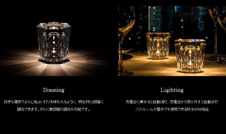 Xtal Crystal Cordless Table Lamp Design Ozeki One Led Light Lighting Rechargeable Fixtures Ambien Tech