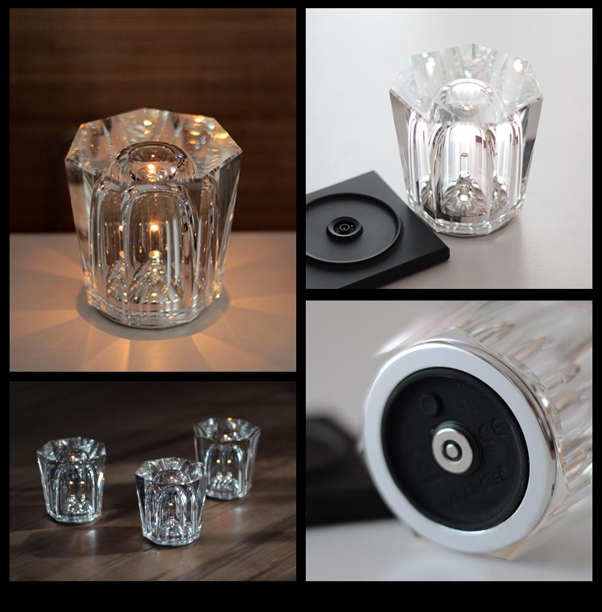 Led 照明充电 led 灯照明灯具 ambien 科技晶水晶无绳表灯设计户籍坂本龙一