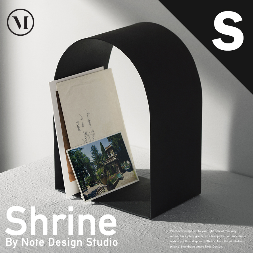 menu Shrine シュライン Sサイズ ブラック ホワイトディスプレイ/神社/棚/シェルフ/ブックエンド/本棚【コンビニ受取対応商品】
