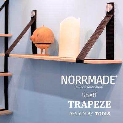 NORRMADE/ノルメイド TRAPEZE1 /トラピーズ shelf 棚 1段空中ブランコ/シェルフ/アッシュ/木製/デンマーク