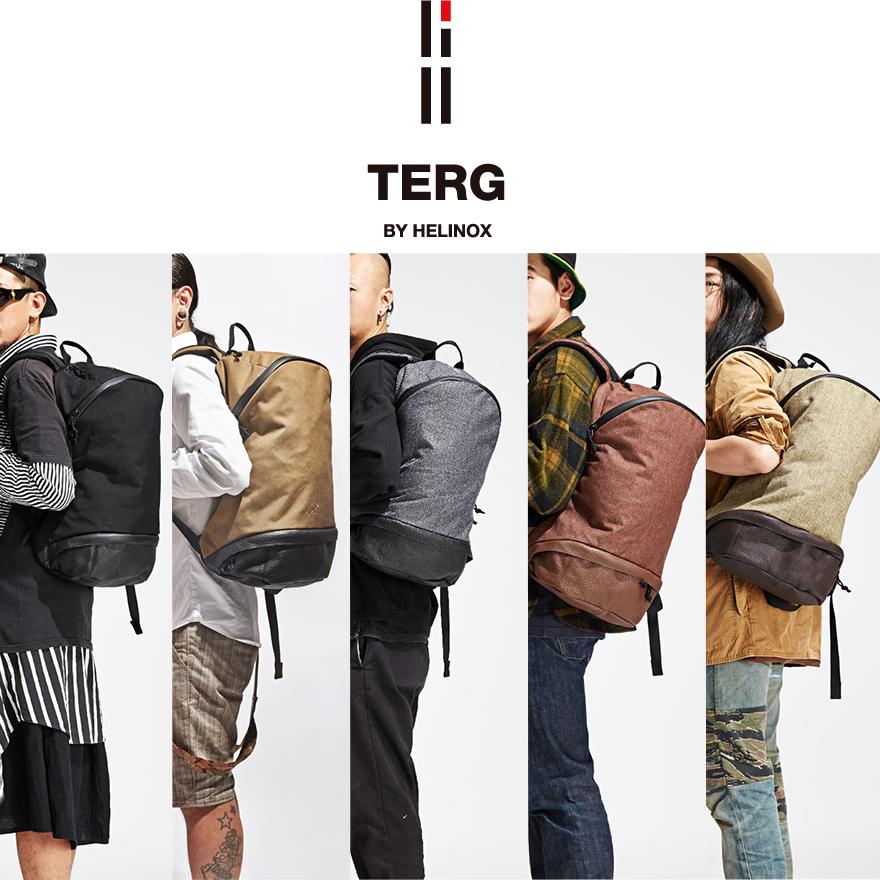 【Helinox/ヘリノックス】TERG ターグ デイパックブラック8809272094562 ピートグレイ8809272094500Daypack/リュック/バックパック/マルチリンクシステム/レザー/ポリエステル/コットン/A4/アウトドア/メンズ/ユニセックス【コンビニ受取対応商品】