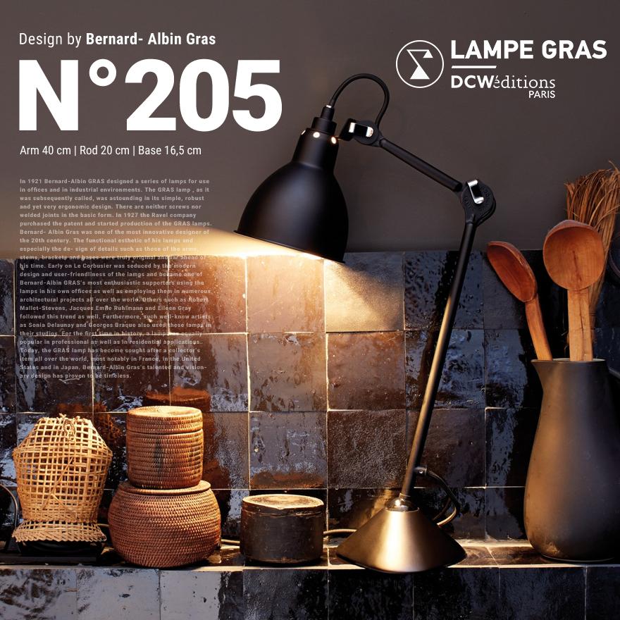【メール便送料無料対応可】 店舗クーポン発行中!DCW editions/ディーシーダブリューエディションズ LAMPE GRAS LAMPE DE TABLE No.205Table Lamp/テーブルランプ/Bernard-Albin Gras, BrandShop Akindo 質屋あきんど 578e42c7