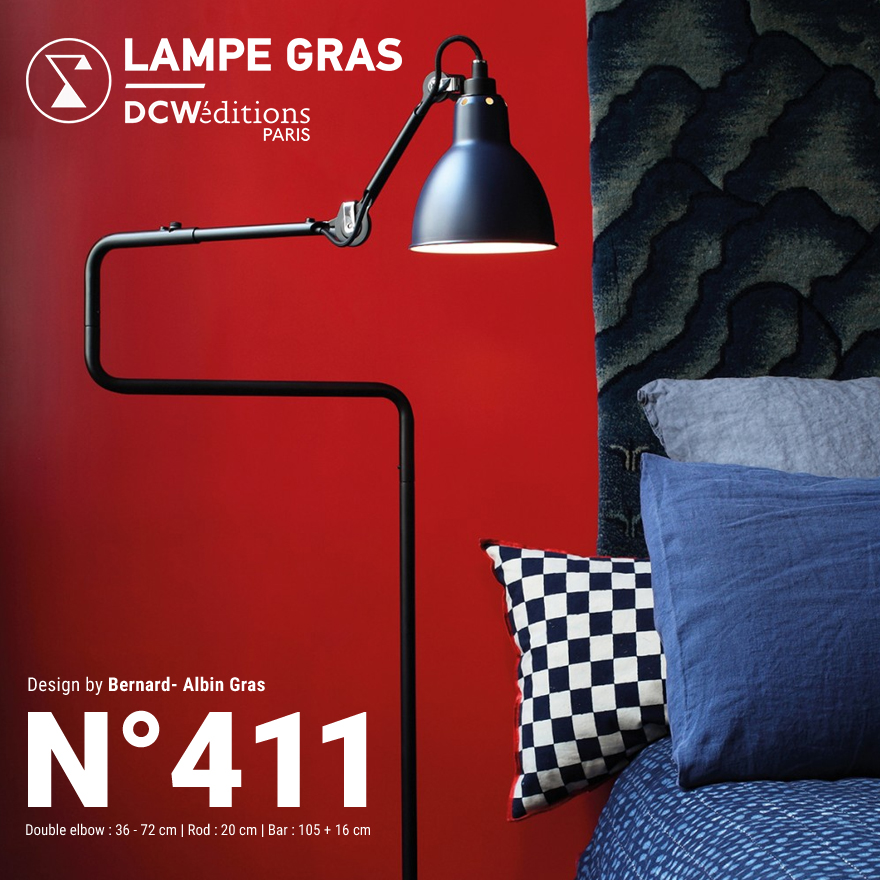 【DCW editions/ディーシーダブリューエディションズ】LAMPE GRAS LAMPADAIRE No.411Floor Lamp/フロアランプ/Bernard-Albin Gras