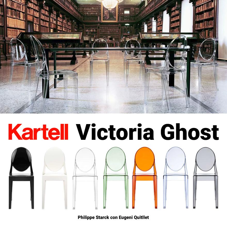 【kartell/カルテル】VICTORIA GHOST/ビクトリアゴーストダイニングチェア/PhilippeStarck/SFCH-K4857/椅子/4本足
