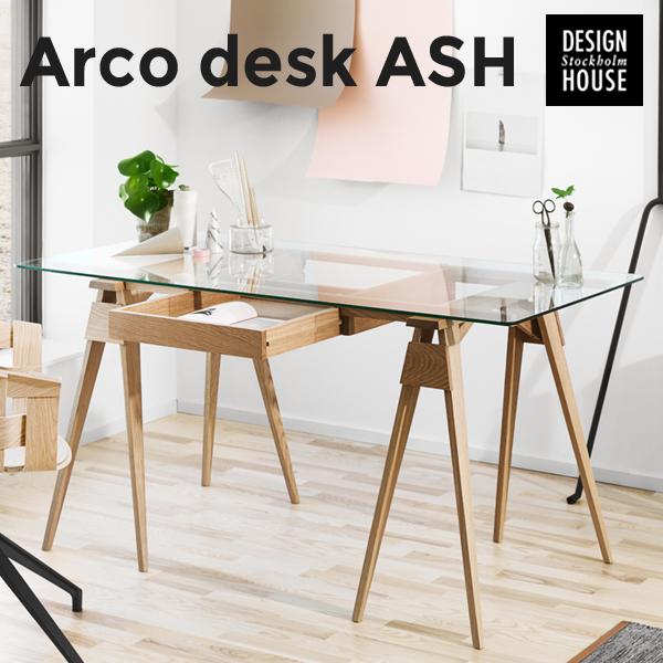 店舗クーポン発行中!【Design House Stockholm/デザインハウス ストックホルム】Arco desk ash アッシュChuck Mack/テーブル/ダイニングテーブル/机/北欧/家具 【代引き不可】