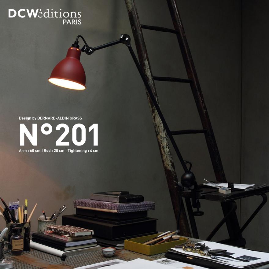 【DCW editions ディーシーダブリューエディションズ】LAMPE GRAS NO201 ROUND ランぺグラス NO.201 ラウンドクランプ式 Table Lamp テーブルランプ BERNARD-ALBIN GRASS バーナード・アルビン・グラス テーブルスタンド