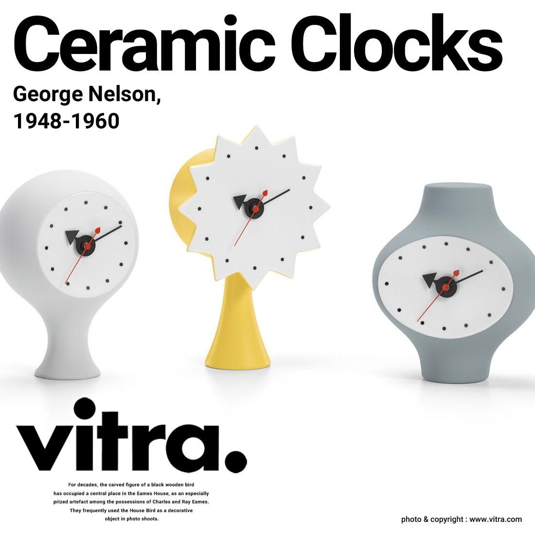 【Vitra】Ceramic Clocks セラミック クロッククロック 置き時計 George Nelson ジョージ・ネルソン ヴィトラ 陶器【コンビニ受取対応商品】