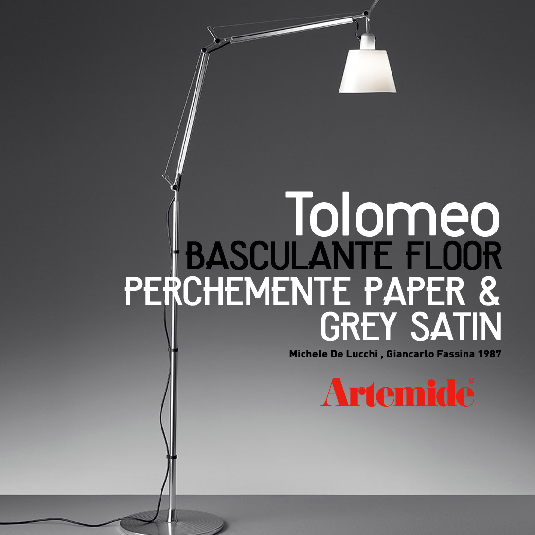 【Artemide アルテミデ】TOLOMEO BASCULANTE FLOOR トロメオ フロアランプ 電球仕様ライト 照明 リビング キッチン ダイニング フロアライト