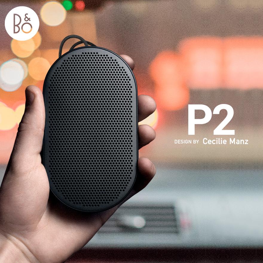 ●●【B&O オリジナルプレゼント付き】【B&O Play】Beoplay P2 Bluetooth スピーカーBang&Olufsen/バングアンドオルフセン/USB/Bluetooth 4.2/ブルートゥース/セシリエ マンツ/密閉型/持ち運び【コンビニ受取対応商品】
