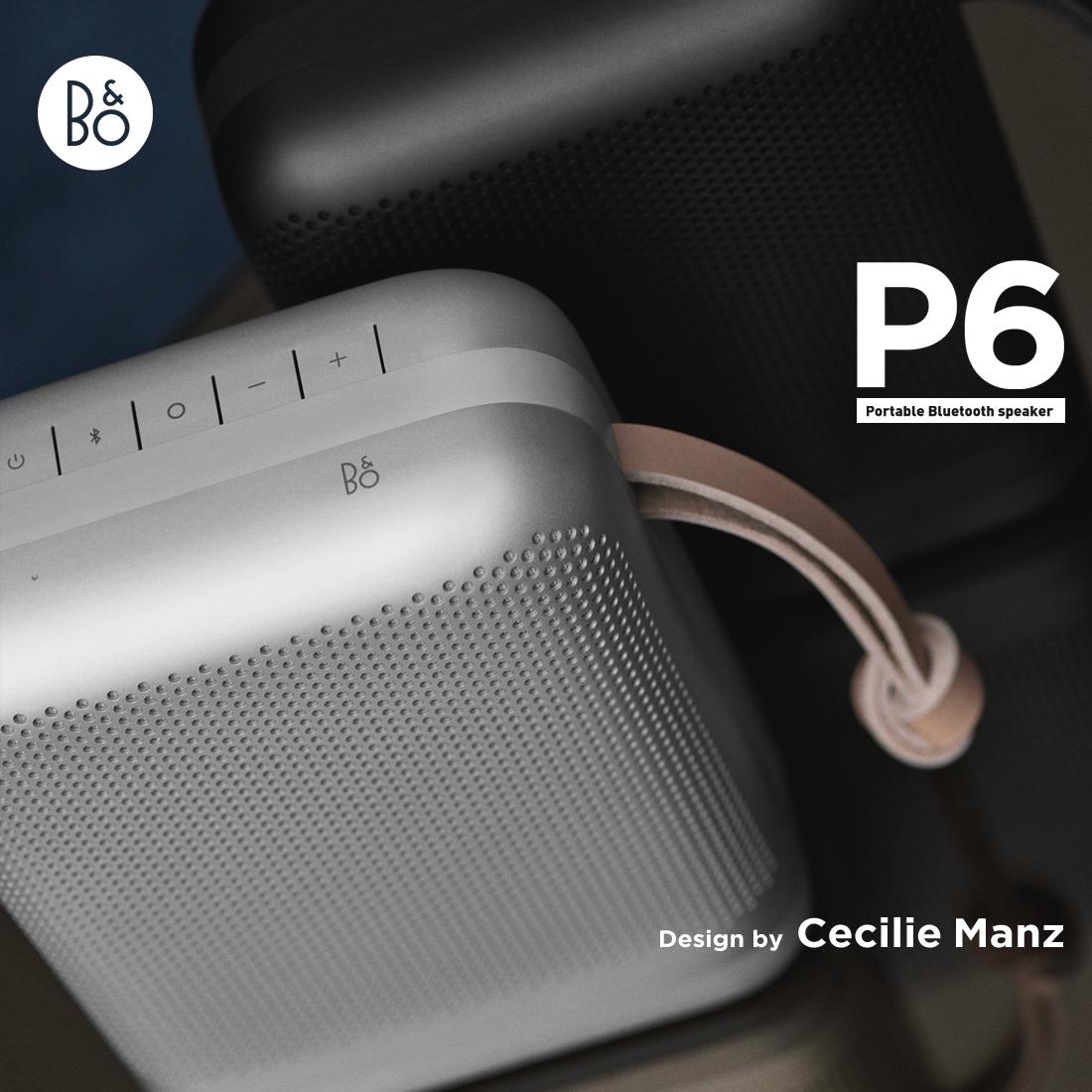 【B&O Play】Beoplay P6 ポータブル ワイヤレス スピーカーBang&Olufsen バングアンドオルフセン セシリエ マンツ 【コンビニ受取対応商品】