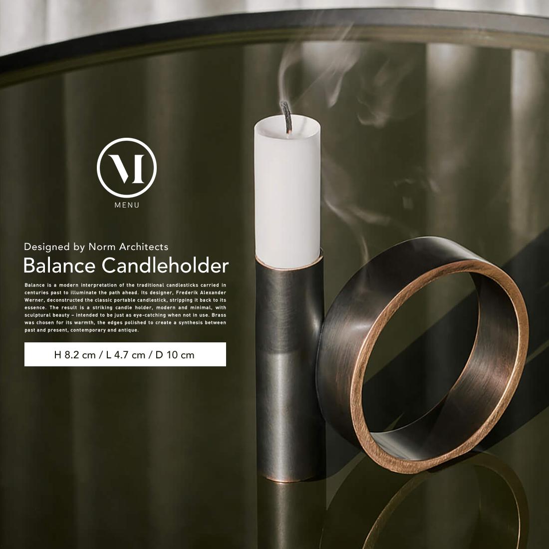 【menu メニュー】Balance Candleholder バランスキャンドルホルダー ブロンズブラス 燭台 ろうそく立て【コンビニ受取対応商品】
