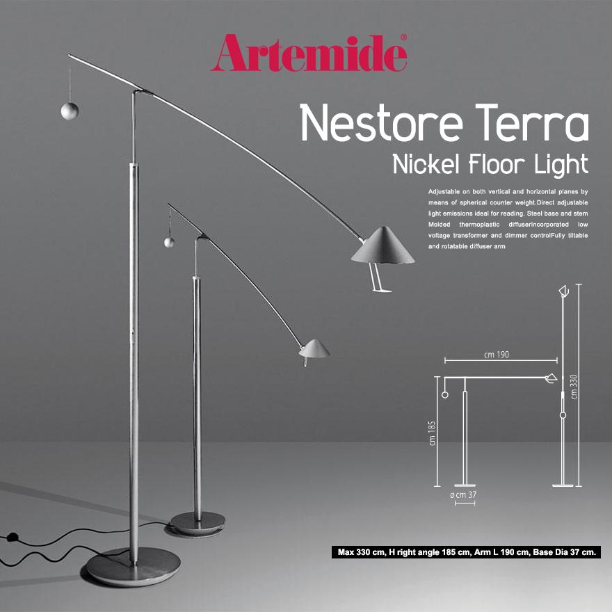 【Artemide アルテミデ】NESTORE LETTURA フロアライト フロアランプ ライト 照明 リビング キッチン ダイニング
