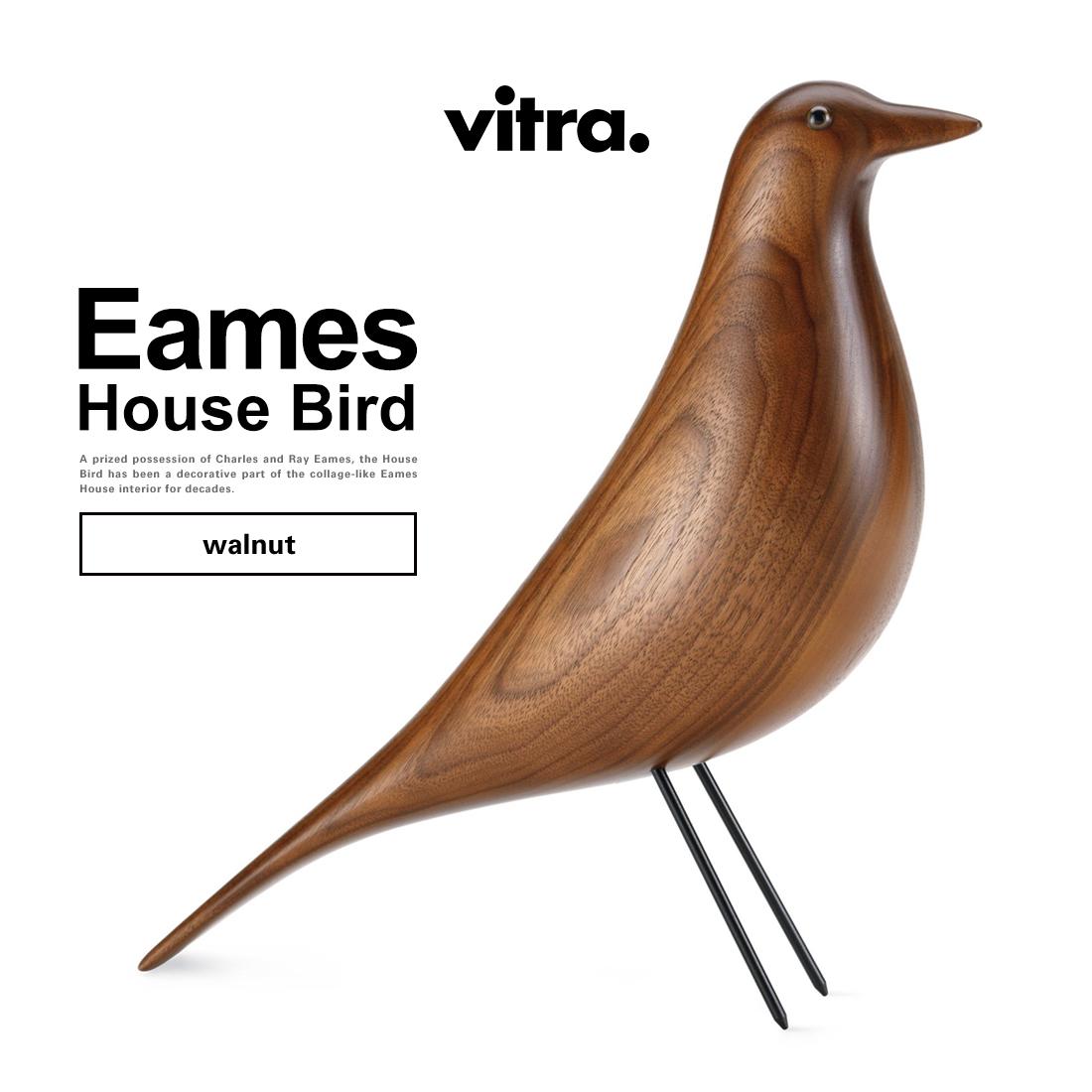 【Vitra】Eames House Bird walnut イームズ ハウスバード ウォルナットヴィトラ/オブジェ/置物/インテリア/Charles & Ray Eames/チャールズ&レイ・イームズ/鳥【コンビニ受取対応商品】