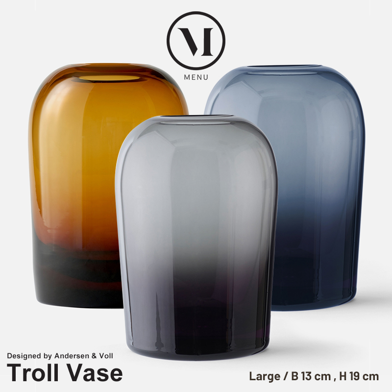 【menu メニュー】 Troll Vase トロールベース Lメニュー デザイン Andersen & Voll 花瓶 フラワーベース 水差し 北欧 コンビニ受取対応