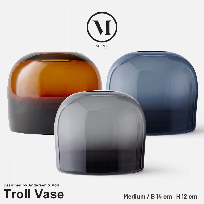 【menu メニュー】 Troll Vase トロールベース Mメニュー デザイン Andersen & Voll 花瓶 フラワーベース 水差し 北欧 コンビニ受取対応
