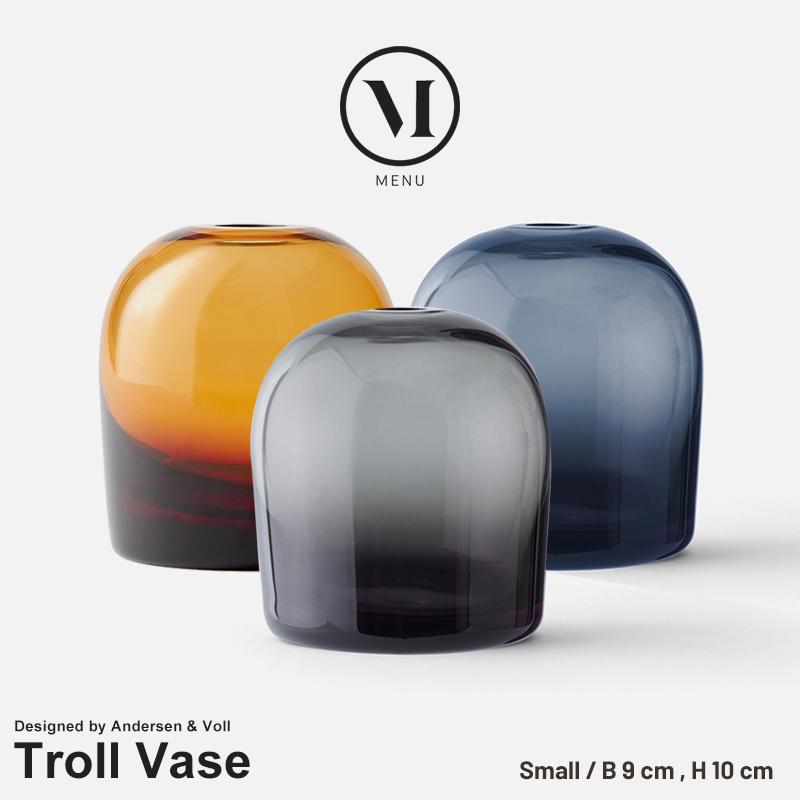 【menu メニュー】 Troll Vase トロールベース Sメニュー デザイン Andersen & Voll 花瓶 フラワーベース 水差し 北欧 コンビニ受取対応