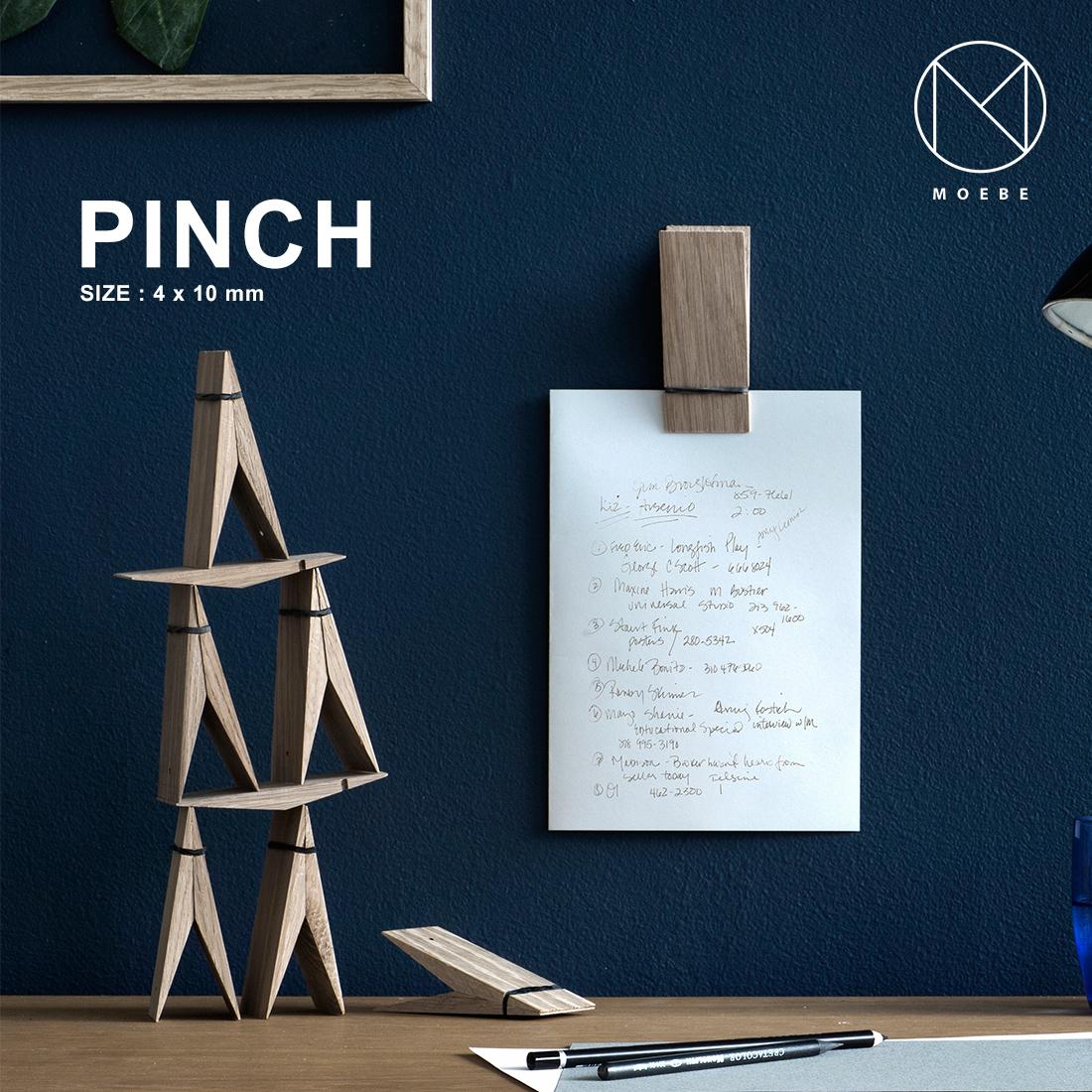 2人の建築家と1人の家具職人が2014年に創業した日本初上陸となる MOEBE ムーベ ファクトリーアウトレット クーポン発行中 PINCH ピンチ壁掛け ギフト 写真 フレーム 2020A/W新作送料無料 ブラック クリップ メモ 洗濯バサミ 大きいサイズ オーク