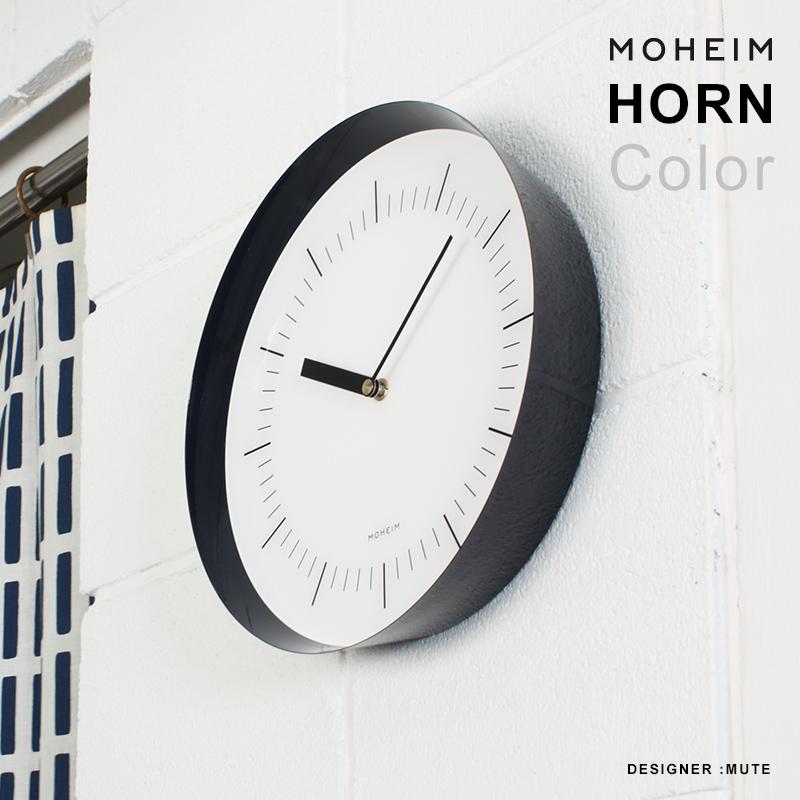 店舗クーポン発行中!【MOHEIM モヘイム】HORN 壁掛け時計 クロック xウッド 掛け時計 木製