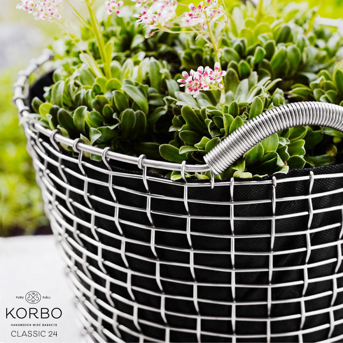 【KORBO/コルボ】CLASSIC24 ワイヤーバスケット手織り/スウェーデン/北欧/カゴ/ステンレス日本正規代理店品