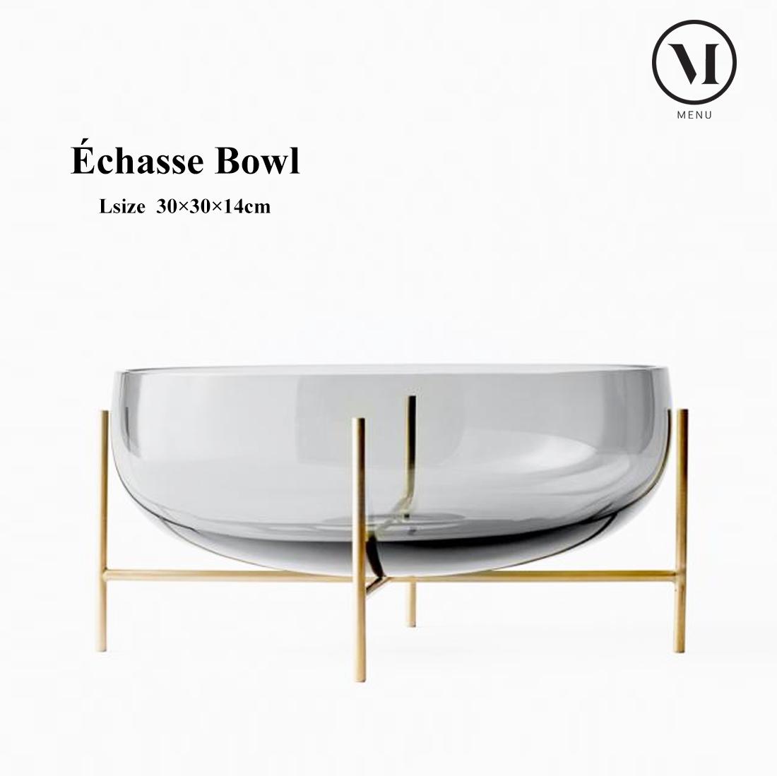 【menu】Echasse Bowl L スモーク 4798949 イシャスベース メニュー 30×30×14cm/北欧/インテリア/プレゼント