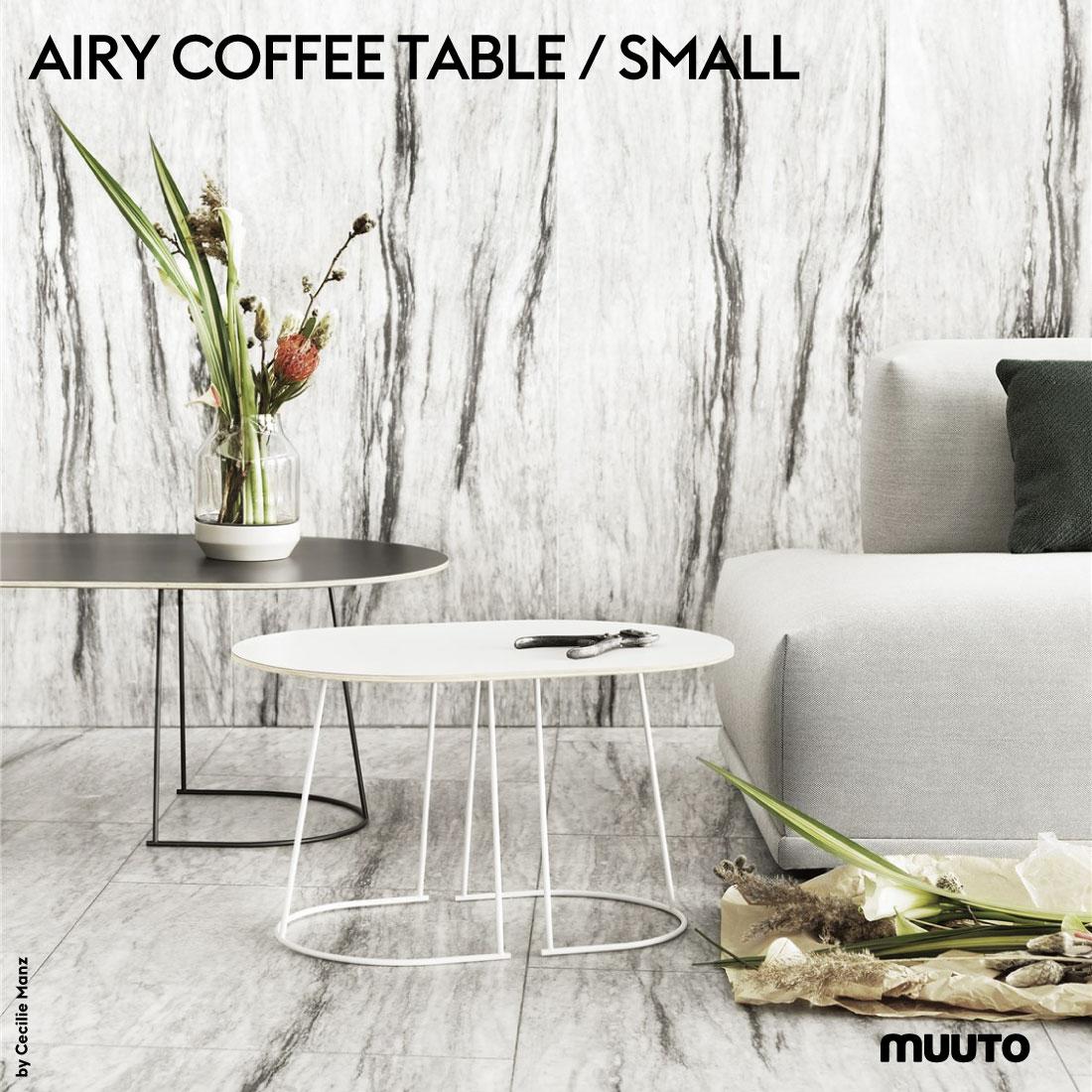 【Muuto/ムート】AIRY COFFEE TABLE / SMALL/エアリーコーヒーテーブル/Sサイズ/プライウッド/FENIXラミネート/Cecilie Manz/セシリエ・マンツ/