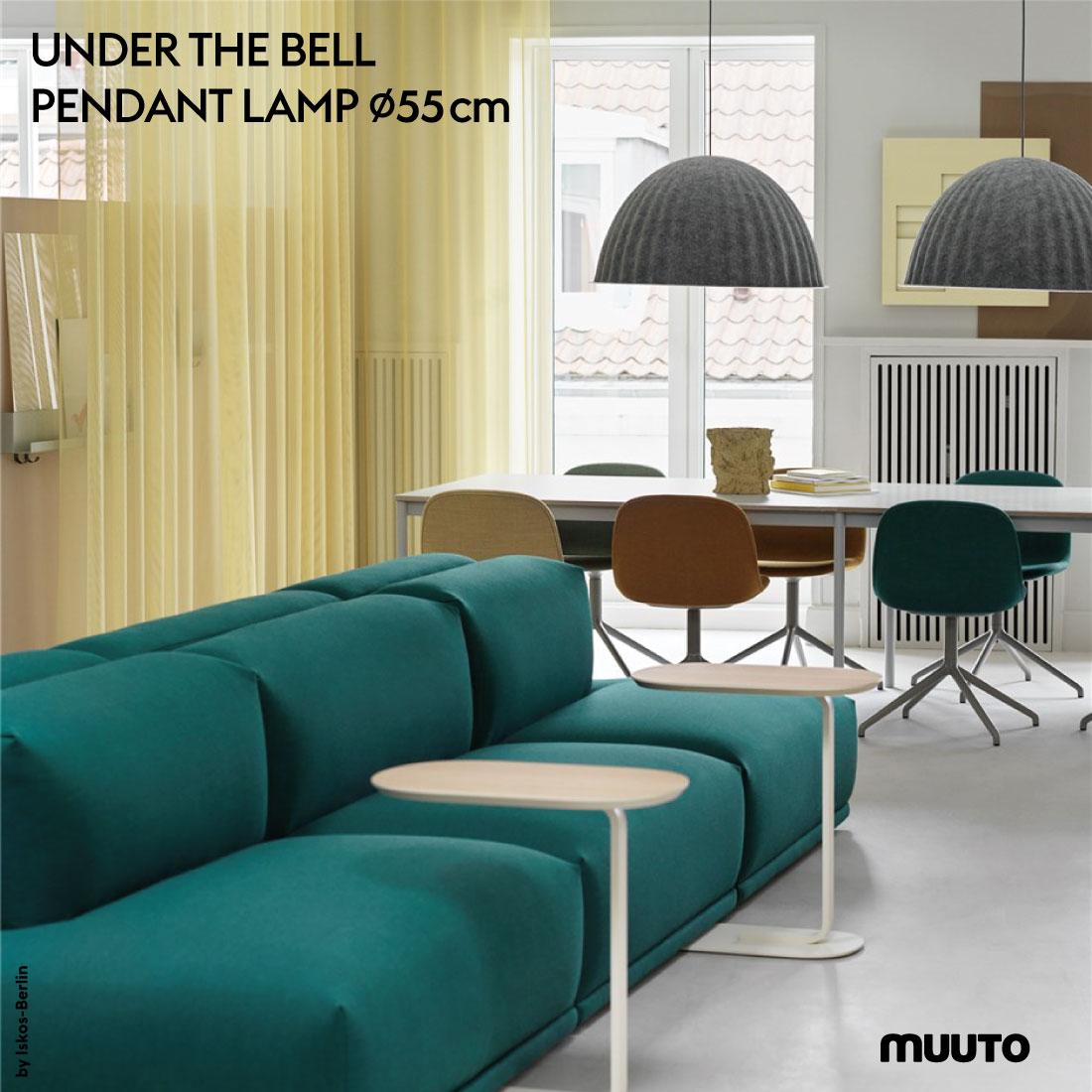 【Muuto/ムート】UNDER THE BELL PENDANT LAMP 55cm/アンダー・ザ・ベル/ペンダントランプ/照明/ライト/Iskos-Berlin/イスコス-ベルリン