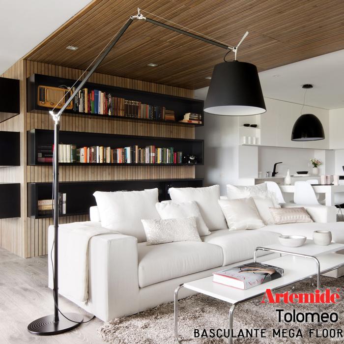 【Artemide アルテミデ】TOLOMEO BASCULANTE MEGA FLOOR トロメオ フロアランプ 電球仕様ライト 照明 リビング キッチン ダイニング フロアライト