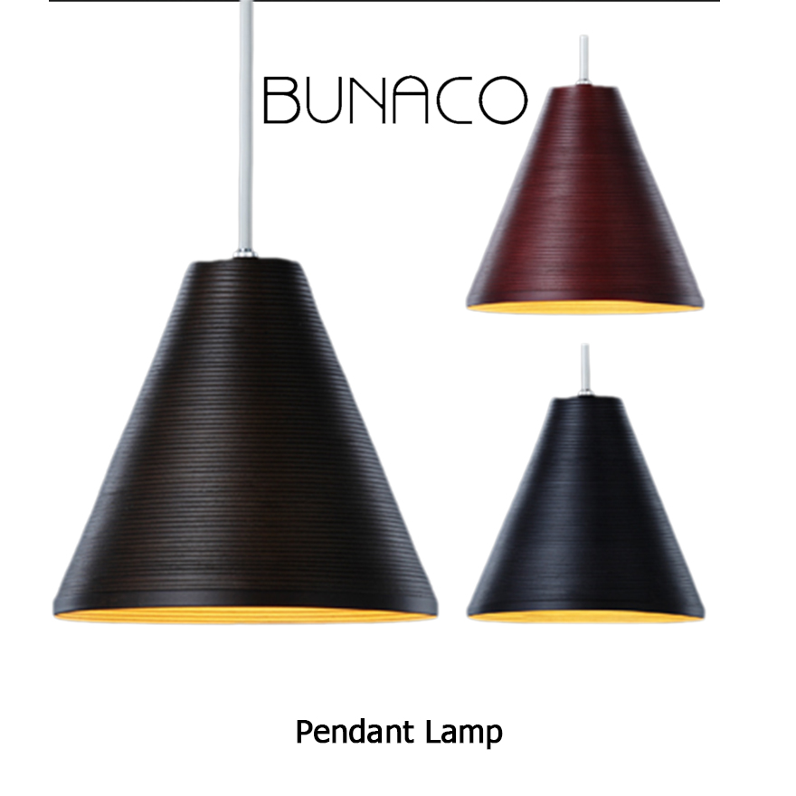 【BUNACO/ブナコ】ブナコのペンダントランプ照明 BUNACO Pendant Lamp BL-P372/374/376