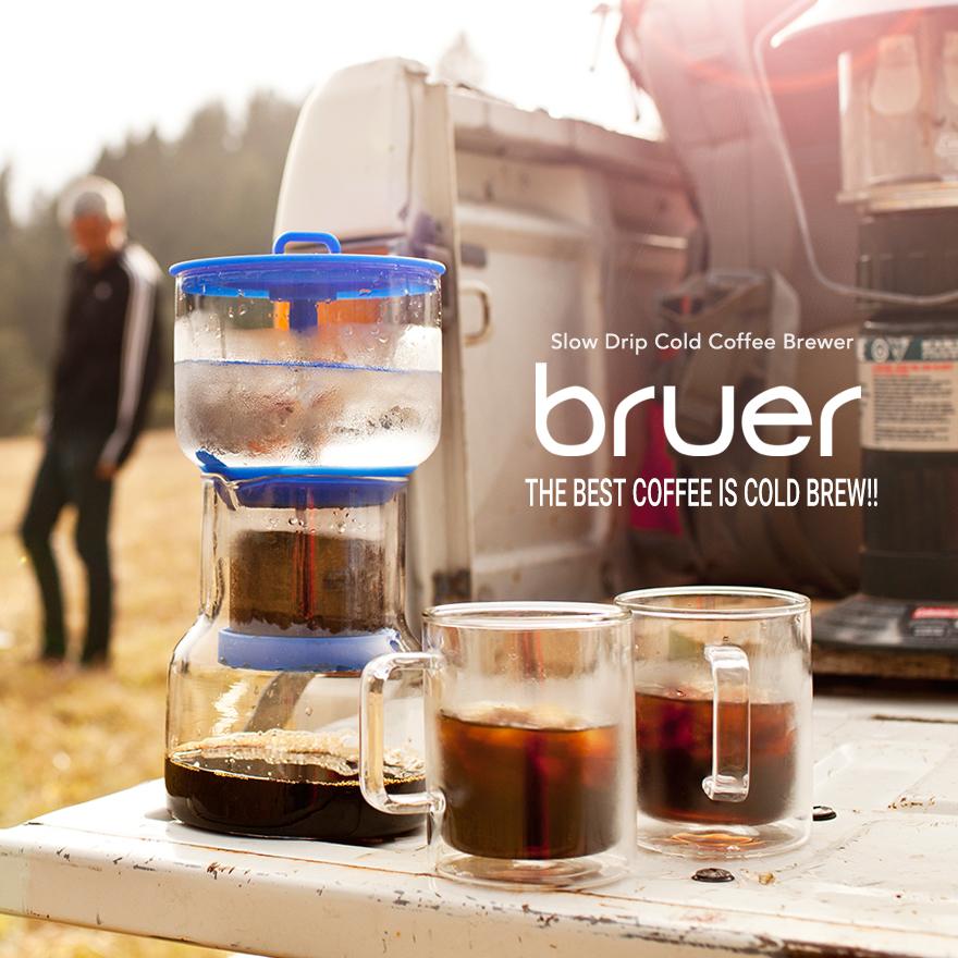 Bruer/ブルーアー Cold Bruer コールドブルーアー ドリッパースロードリップ/コールドブリュー/水出しコーヒー/カラフェ/カリフォルニア/電子レンジ可/食洗機可/フィルター付 コンビニ受取対応