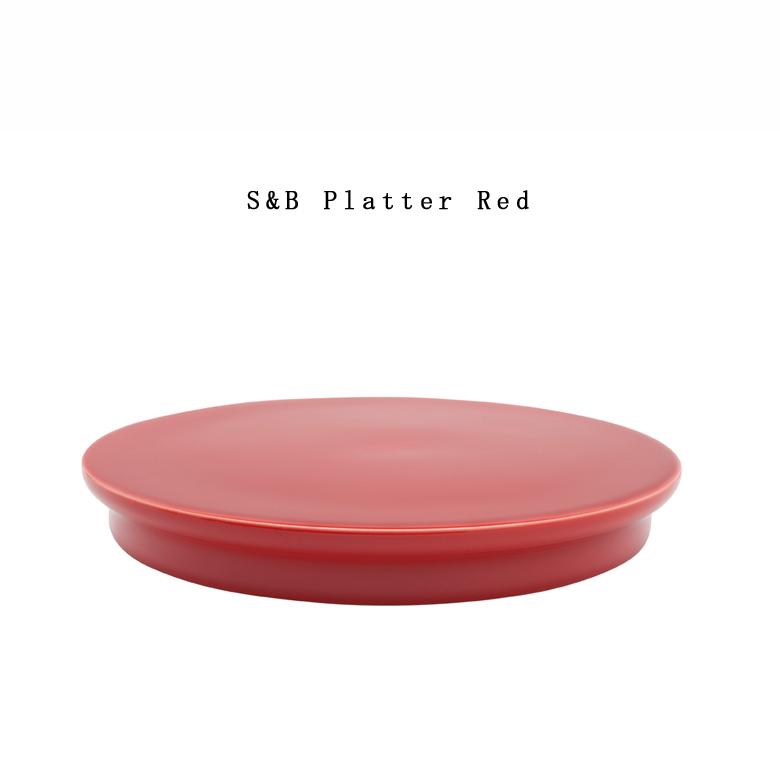 【有田焼/磁器】1616/arita japan S&B Platter Red S&Bプラッター レッド ショルテン & バーイングス デザインS&B/TYパレス/plate/百田陶園/platter コンビニ受取対応