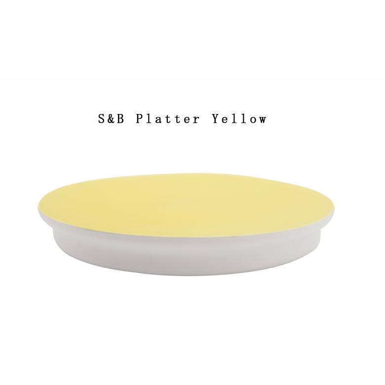 【有田焼/磁器】1616/arita japan S&B Platter Yellow S&B Platter イエロー ショルテン & バーイングス デザインS&B/TYパレス/plate/百田陶園/ コンビニ受取対応