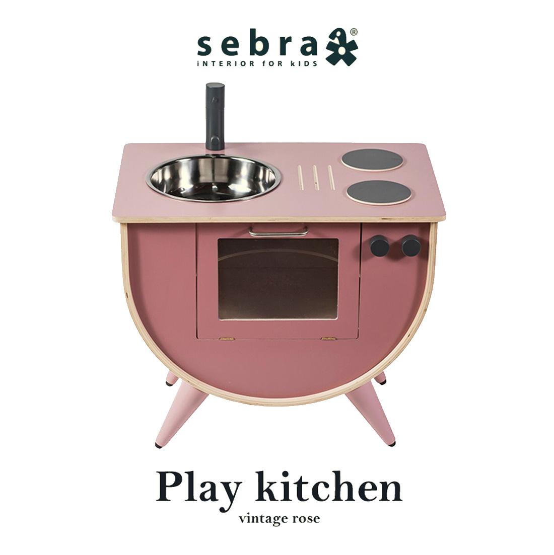 【sebra セバ】ままごとキッチン RoMia Dela ミアデラ  子供用家具 子ども キッズ デンマーク 北欧 子供用 玩具