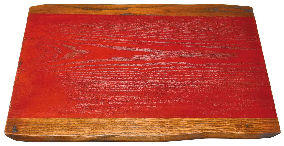 代引き不可 板膳 木製のランチョンマットです 料理を引き立て 品良く演出してくれます ■ 13.0長板膳赤 40x31x1cm 木製 半額 ランチョンマット 板膳サイズ