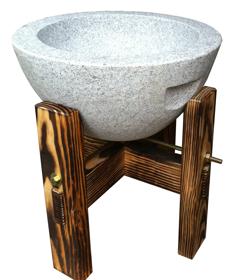 餅つき石臼セットB2011 2升用 台付き 条件付き送料無料