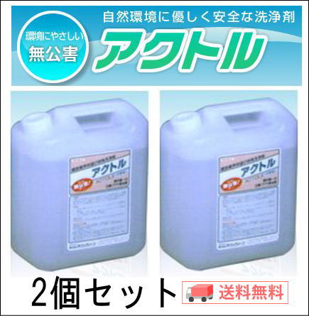 アクトル4L 白華(エフロ)除去剤 テクノクリーン 送料無料2個セット