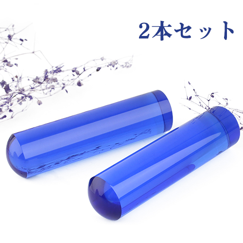 水晶印鑑2セット 宝石 天然石 パワーストーン 実印 銀行印 認め印 15ミリ 15mm 印鑑 水晶 青水晶 ブルー水晶 Blue crystal 水晶 すいしょう 出産 成人 入学 就職祝い 青水晶印鑑2セット12.0mm~18.0mmケース付 ネコポス発送