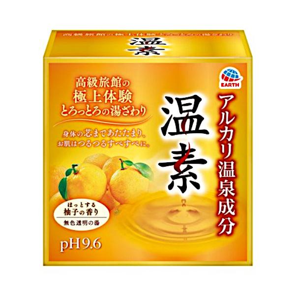 アルカリ芒硝湯の湯ざわりをお肌で実感 アウトレットセール 特集 医薬部外品 商い 温素 柚子の香り 入浴剤 30g×15包 アース製薬