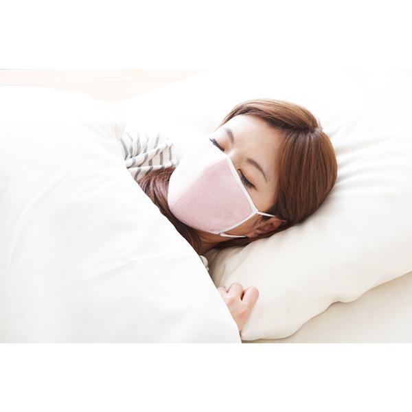 おやすみ用保湿マスク 保湿性のあるシルクで唇 のどの乾燥対策 シルク100% メール便 送料無料 大判 安眠グッズ マスク:1枚 ポーチ:1枚 ピンク 潤いシルクのおやすみマスク ポーチ付き アルファックス いつでも送料無料 海外並行輸入正規品