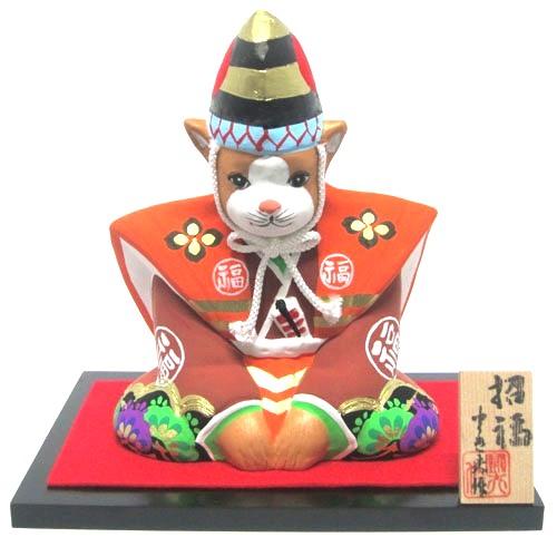 福岡県 伝統工芸品 博多人形十二支 犬干支 招福戌 三番叟闘夫 作