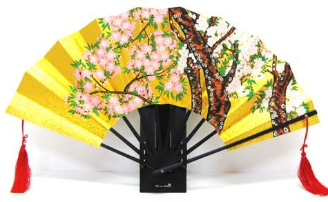 日本のお土産 日本の伝統飾り扇子 金地飾り扇子 日本扇子扇子 センス せんす桜・さくら・サクラ