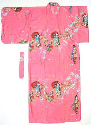 日本製 日本のお土産 海外おみやげ 綿製品 着物傘と舞子 ピンク色