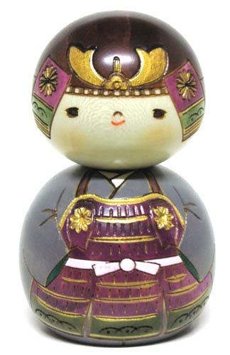 やすらぎの木の温もり 海外向けお土産 日本こけし人形 日本のお土産にも人気日本製 モデル着用&注目アイテム 民芸品 NEW売り切れる前に☆ 五月人形 工芸品卯三郎作 こけし かぶと君